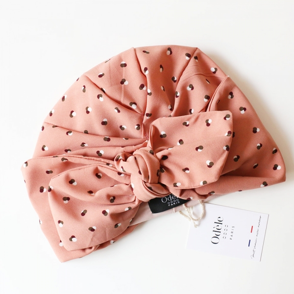 Turban Georgette Vieux Rose